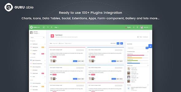 Guru Able Bootstrap 4 Admin Dashboard Template & Angular 4