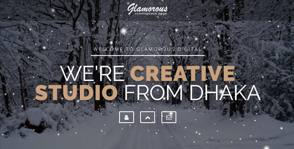 Glamorous Creative Intro Page - Under Construction Specialty Pages
