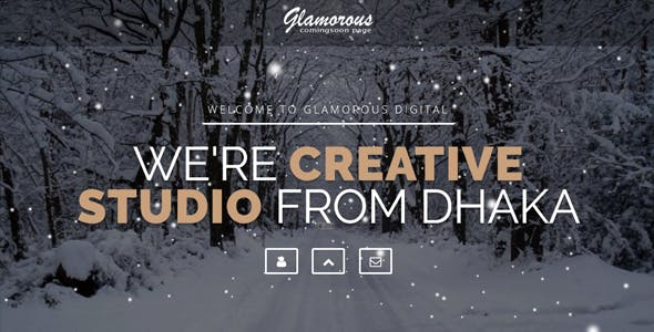 Glamorous Creative Intro Page