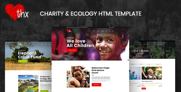 THX - Charity & Ecology HTML Template - Charity Nonprofit