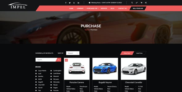 IMPEL Car Dealer PSD Template