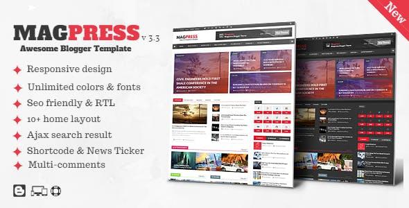 Magpress - Magazine Responsive Blogger Template