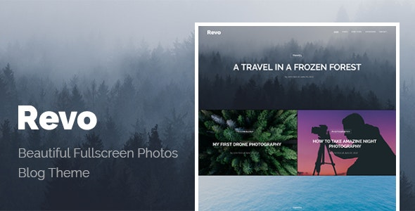 Revo - Wide Blog WordPress Theme - Personal Blog / Magazine