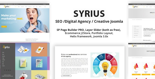 Syrius - SEO Digital Agency Creative Joomla Template - Joomla CMS Themes