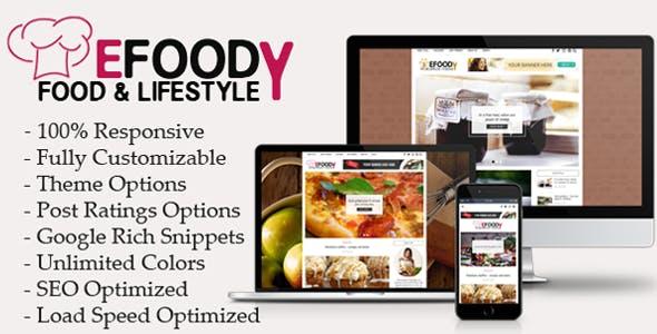 Efoody - Food and Lifestyle WordPress Theme