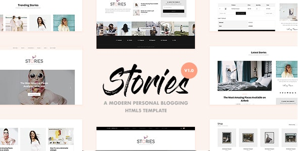Stories - A Modern Personal Blogging HTML5 Template - Retail Site Templates