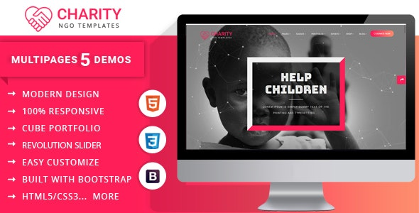 Charity Nonprofit Multipage Template - Charity Nonprofit