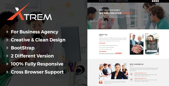 Xtrem - One Page Multipurpose Template - Business Corporate