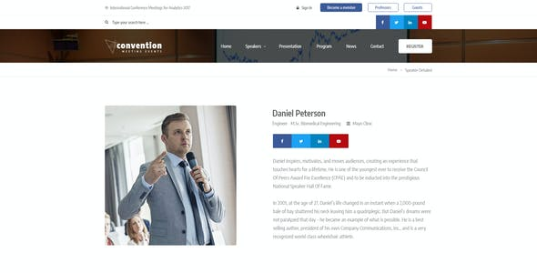 Convention - Conference & Events PSD Template
