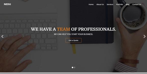 Nedu One Page Multipurpose Template - Corporate Site Templates
