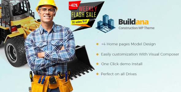 Buildana | Construction & Building WordPress Theme - Business Corporate