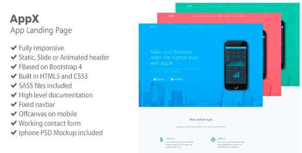 AppX - App Landing Page - Landing Pages Marketing