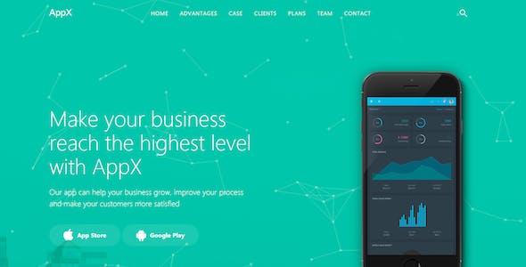 AppX - App Landing Page