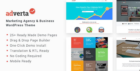 Adverta – Marketing Agency & Business WordPress Theme - Corporate WordPress