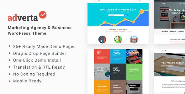Adverta – Marketing Agency & Business WordPress Theme