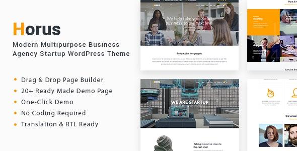 Horus - Multipurpose Business Agency Startup WordPress Theme - Business Corporate