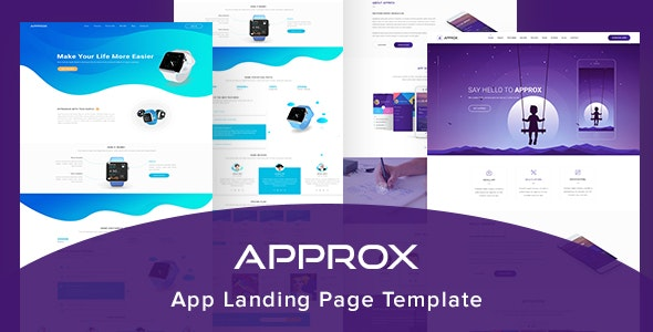 Approx App Landing Page Template - Photoshop UI Templates