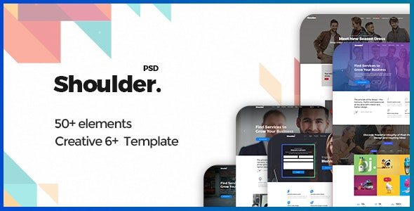 Shoulder - Multi-Purpose Consulting - Business, Finance PSD Template - Business Corporate