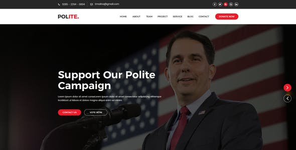 Polite - Political PSD Template