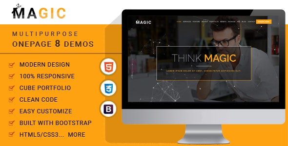 Magic -  Multipurpose Onepage Template - Business Corporate
