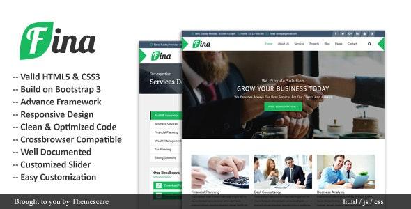 Fina || Business & Finance HTML Template - Business Corporate