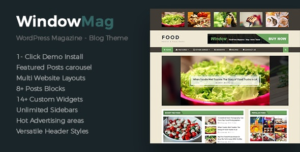 WindowMag - Responsive News / Magazine / Blog Theme - Blog / Magazine WordPress