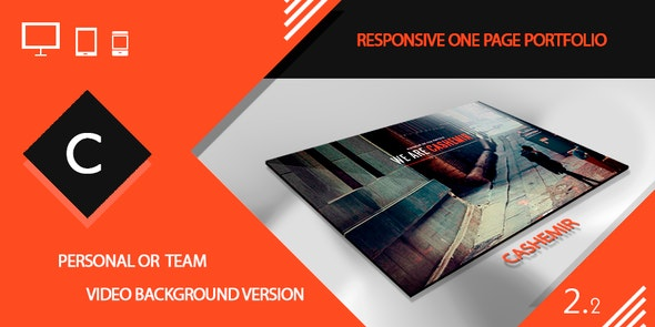 Cashemir -  Responsive One Page Template - Portfolio Creative