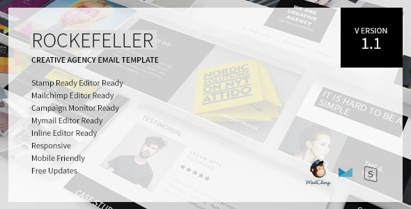 Rockefeller - Creative Agency Responsive Email Template - Newsletters Email Templates