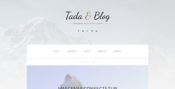 Tada & Blog - Personal WordPress Theme