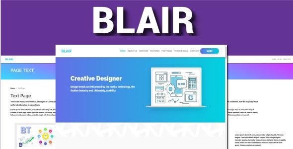 Blair - One Page Bootstrap 4 VueJS - Creative Site Templates