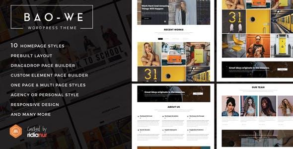 Baowe - Responsive One/Multi Page Portfolio WordPress Theme