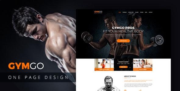 GYMGO-Gym & Fitness PSD Template - Photoshop UI Templates