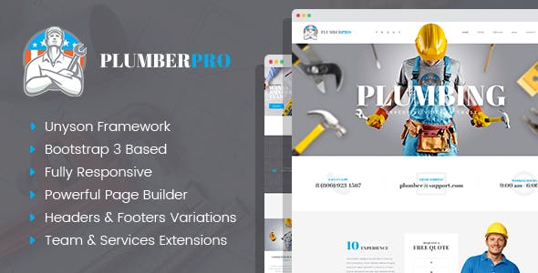 PlumberPlus - Handyman Services WordPress Theme