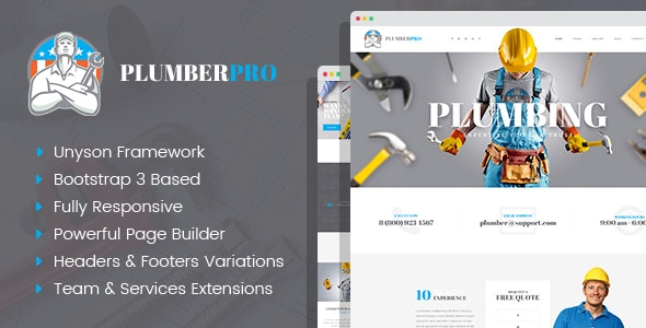 PlumberPlus - Handyman Services WordPress Theme by mwtemplates ...
