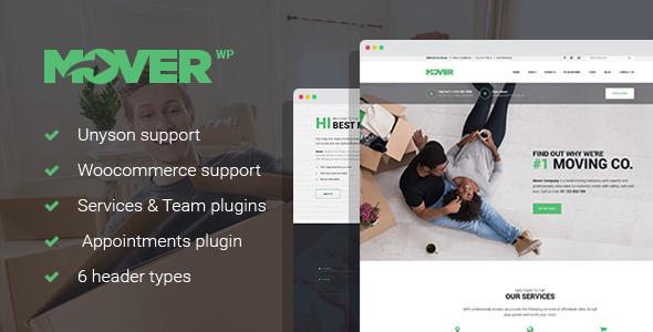 Mover - Moving Company & Storage Services WordPress Theme