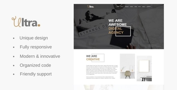 Ultra - One Page Agency & Business Template - Corporate Site Templates