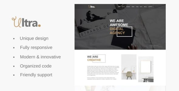 Ultra - One Page Agency & Business Template