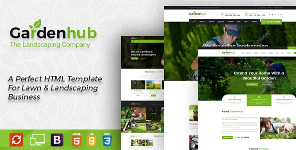 Garden HUB - Gardening and Landscaping HTML Template - Business Corporate