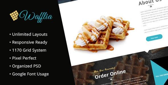 Wafflia - Responsive Waffle and Ice Cream PSD Template - Food Retail