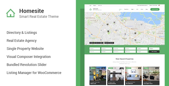Homesite - Multi Concept Real Estate WordPress Theme - Real Estate WordPress