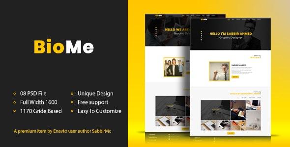 BioMe - Presonal & Corporate Website Template - Corporate Photoshop