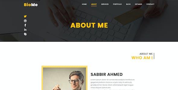 BioMe - Presonal & Corporate Website Template