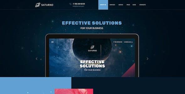 Saturno |  Space Design | Portfolio | Dark and Light  | PSD template
