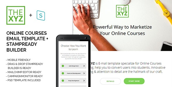 TheXYZ - Online Courses Purposes Email Template - Email Templates Marketing