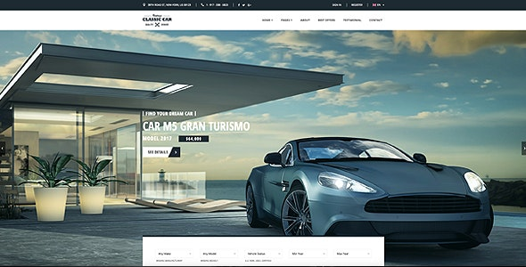 Car Finder, Auto Dealer Bootstrap Template - Business Corporate