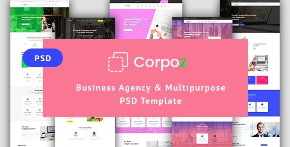 Business Agency & Multipurpose PSD Template - Corporate Photoshop