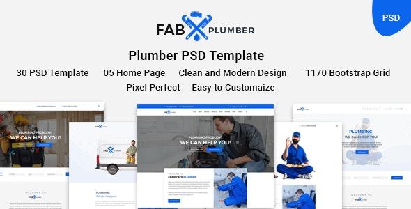 Fab Plumber- Plumber psd Template. - Business Corporate