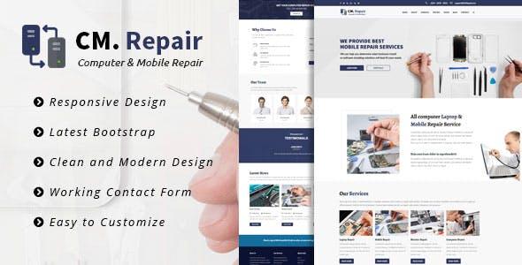 CM Repair -  Bootstrap Template