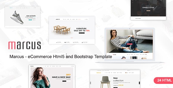 Marcus - Multipurpose WooCommerce and Magento HTML5 and Bootstrap Template - Retail Site Templates