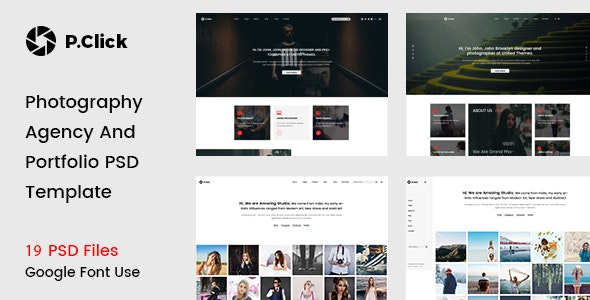 P.Click Photography Template - Photography Creative